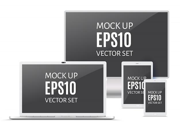 Gadgets électroniques Vecteur Premium