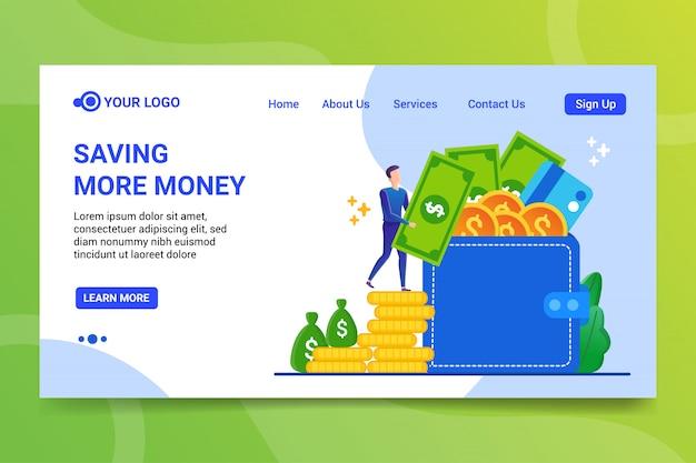 Gagner Plus D'argent Page De Destination Vecteur Premium