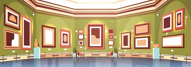 Galerie D'art Moderne à L'intérieur Du Musée Créative Peintures Contemporaines Oeuvres D'art Ou Expositions Vecteur Premium