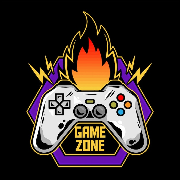 Game Icon Icon Logo Of Gamepad For Play Arcade Video Game For Gamer Modern Illustration With Controller For Player Of Geek Culture Game Zone. Vecteur Premium