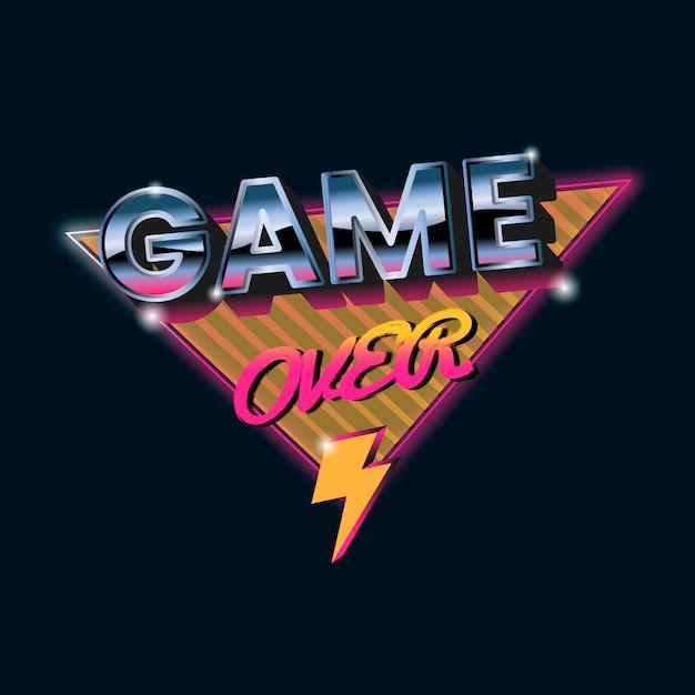 Game over sign Vecteur gratuit