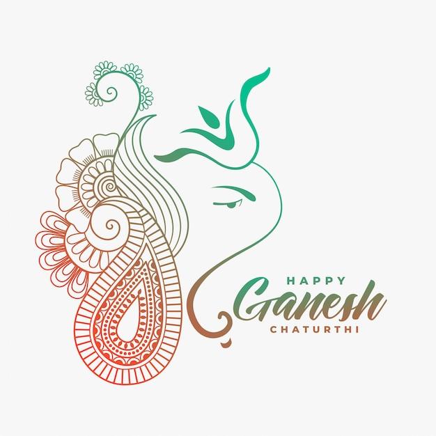 Ganesha Ji Créatif Pour Ganesh Chaturthi Heureux Vecteur gratuit