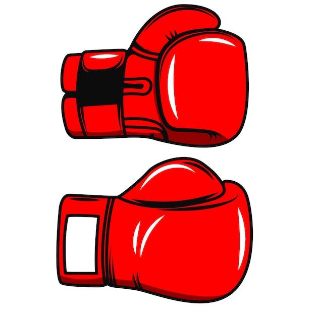 Gants De Boxe Sur Fond Blanc. élément Pour Affiche, Emblème, étiquette, Badge. Illustration Vecteur Premium