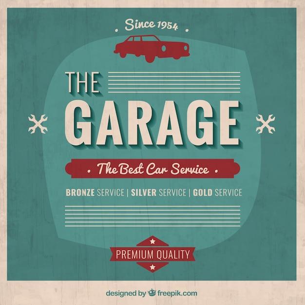 Garage affiche dans le style r tro t l charger des for Garage libre service pour particulier