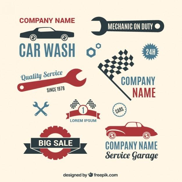 Garage collection de logos t l charger des vecteurs for Garage libre service pour particulier