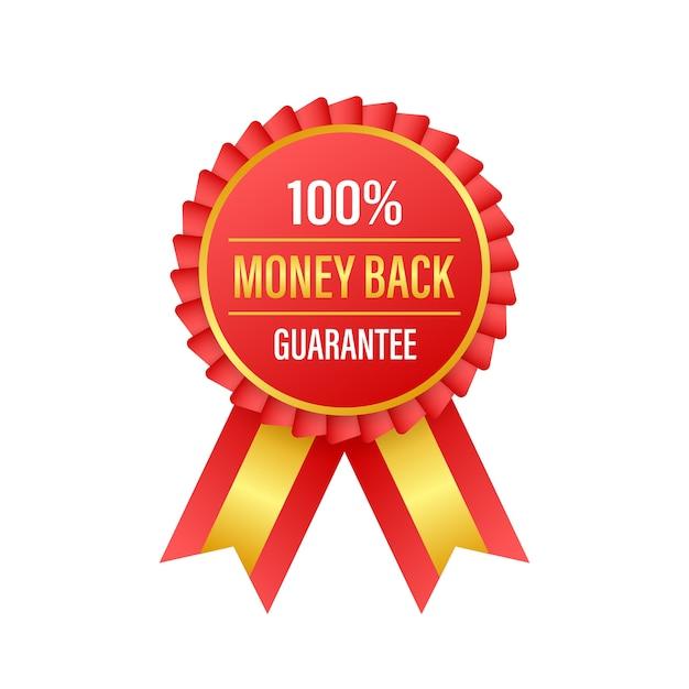 Garantie De Remboursement. Médaille Isolée Vecteur Premium