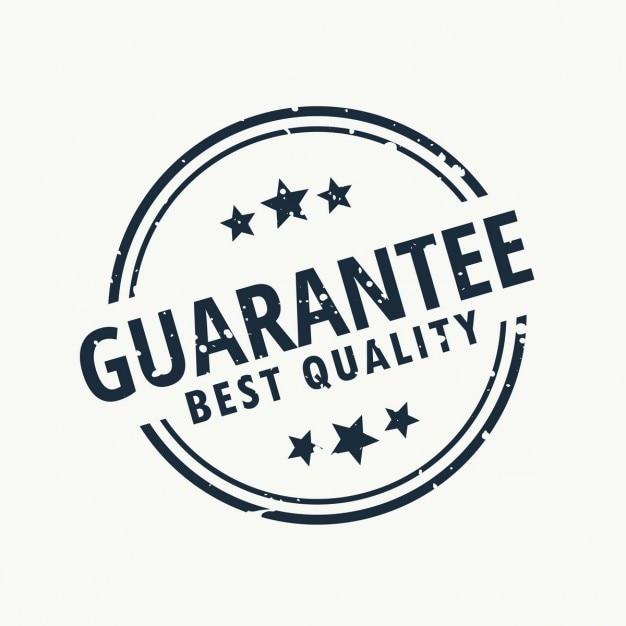 garantir la meilleure label de qualité Vecteur gratuit
