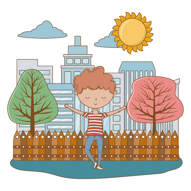 Garçon adolescent de dessin animé Vecteur gratuit