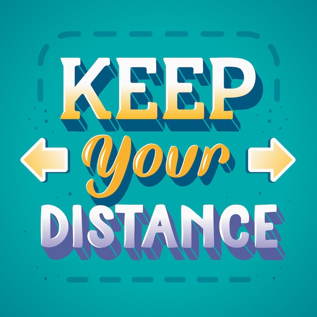 Gardez Votre Lettrage à Distance Avec Des Flèches Vecteur gratuit