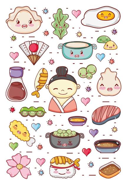 Gastronomie Japonaise Dessins Animés Kawaii Mignons