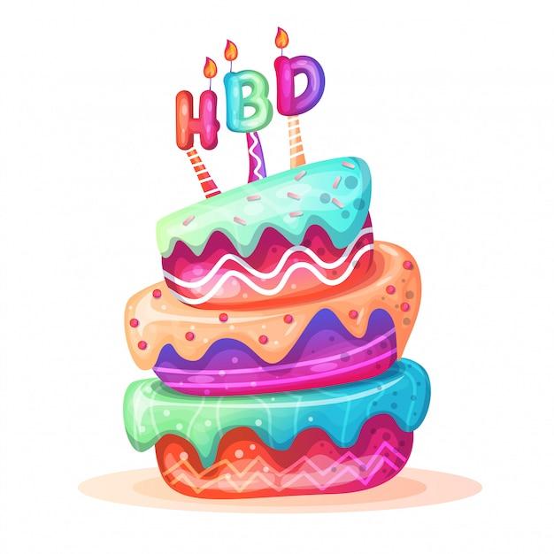 Gâteaux d'anniversaire Vecteur Premium