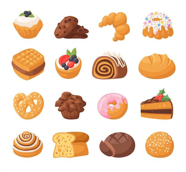Gâteaux De Biscuits Vecteur Isolé. Vecteur Premium