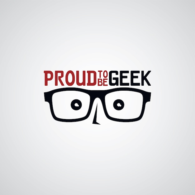 Geek Nerd Guy Vecteur Premium