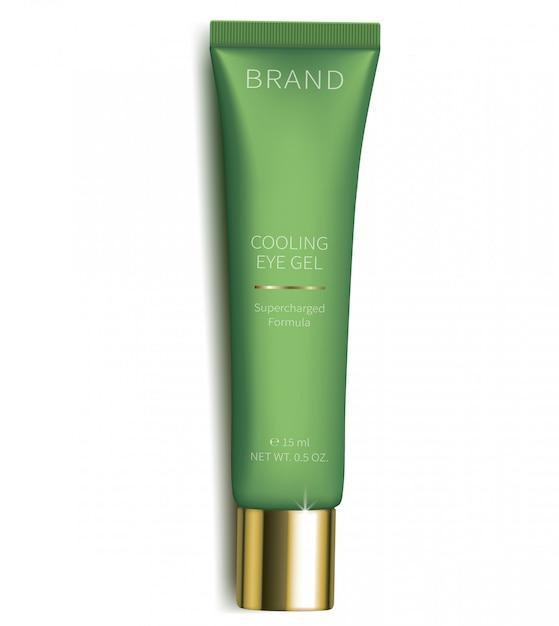 Gel cosmétique pour le soin de la peau des yeux Vecteur gratuit