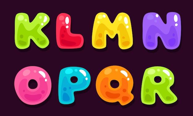 Gelée colorée alphabets partie 2 Vecteur Premium
