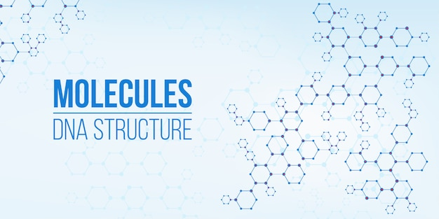 Génome de connexion codant pour la structure moléculaire. Vecteur Premium