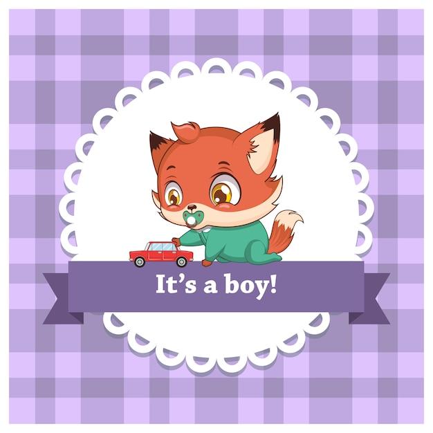 Le genre de bébé révèle pour un garçon Vecteur Premium