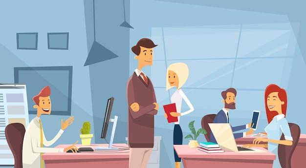 Gens d'affaires bureau gens travail gens Vecteur Premium