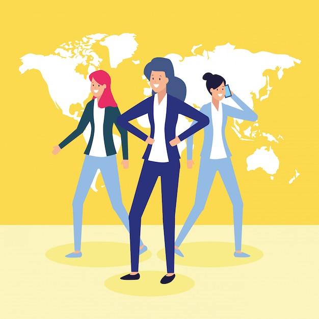 Gens d'affaires et concept de travail Vecteur gratuit