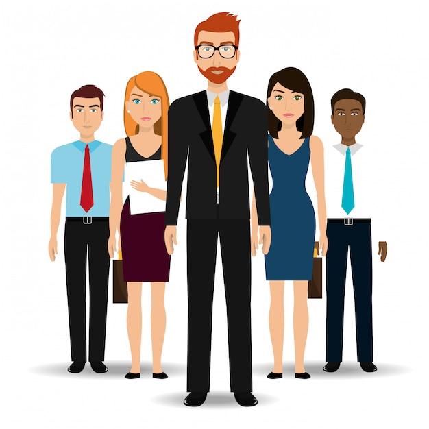 Gens D'affaires Et Entrepreneur Vecteur gratuit