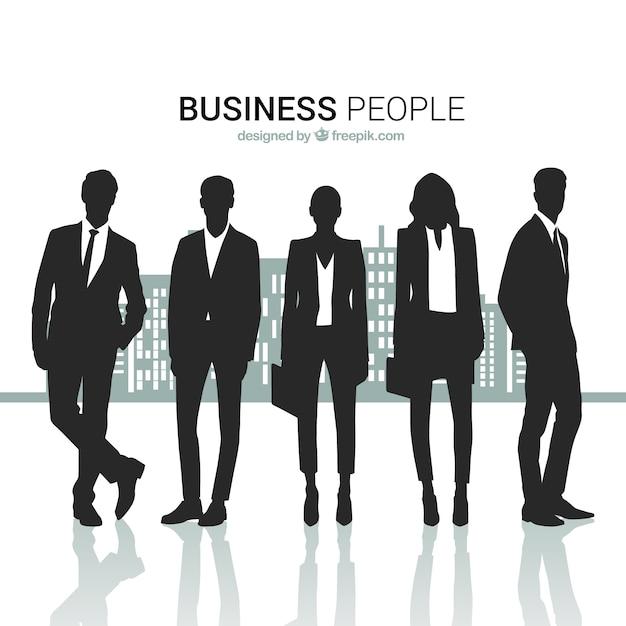 Les gens d'affaires silhouettes pack Vecteur gratuit