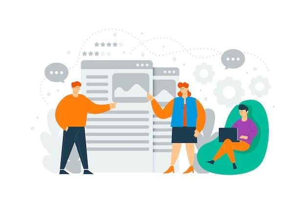 Les Gens D'affaires Travaillant Le Concept D'illustration Vecteur gratuit