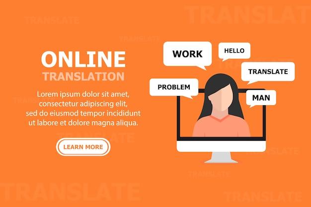 Les gens communiquent en ligne dans différentes langues Vecteur Premium