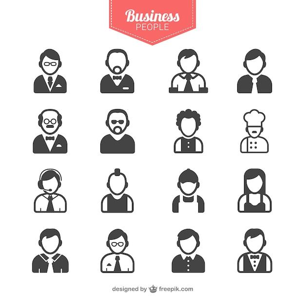 Gens d'affaires avatars Vecteur gratuit