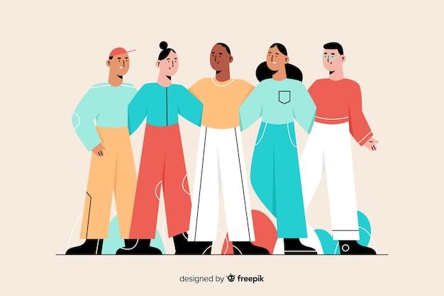 Des gens de différentes cultures et races Vecteur gratuit