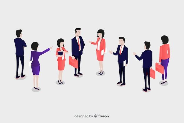 Les gens parlent de style isométrique de l'entreprise Vecteur gratuit