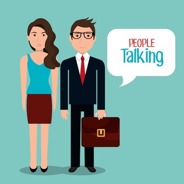 Les gens parlent Vecteur gratuit