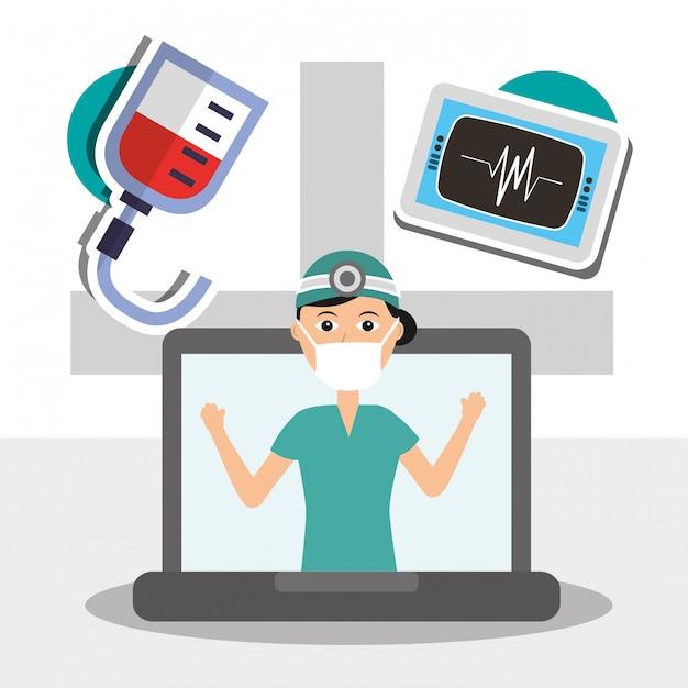 Gens profession médicale Vecteur Premium
