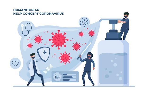 Les Gens Qui Luttent Contre Le Coronavirus Vecteur gratuit