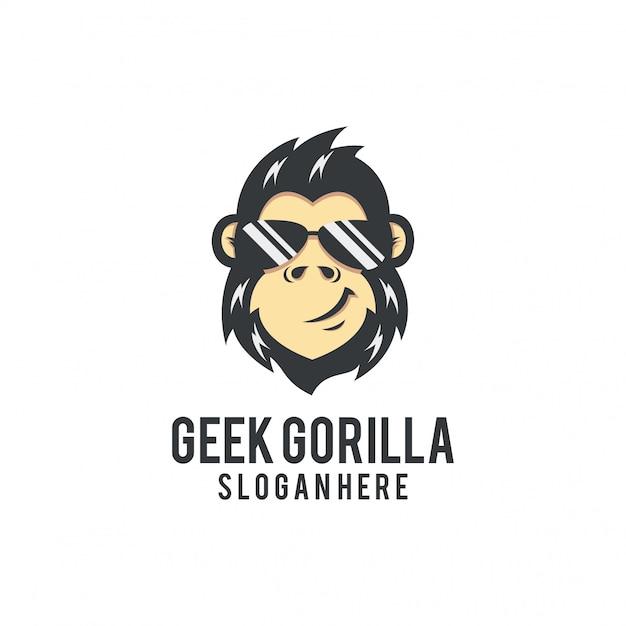 Geok gorilla logo Vecteur Premium