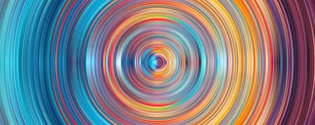 Géométrie Abstraite Rayures Cercle Fond Vecteur Premium