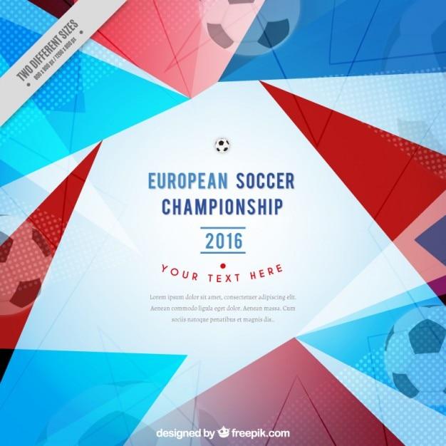 Géométrique championnat d'europe de football de fond Vecteur gratuit