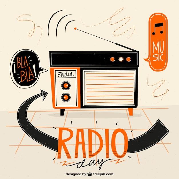 Géométrique Fond De Radio Vecteur Premium