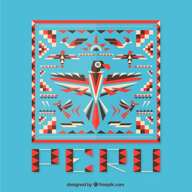 Géométrique Pérou Fond Vecteur gratuit