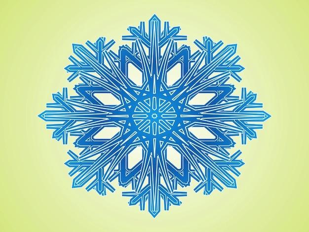 G om trique vecteur de d coration flocon de neige froid - Flocon de neige decoration ...