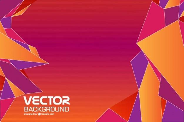 Géométrique vecteur de fond abstrait Vecteur gratuit