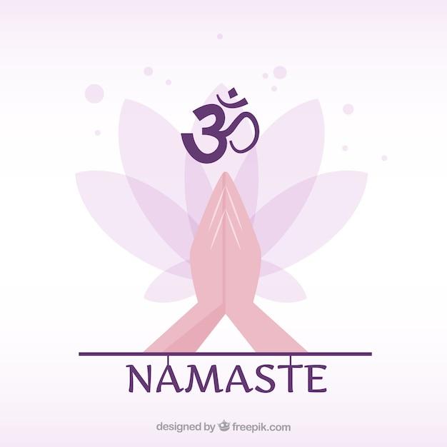Geste De Namaste Ethnique Avec Un Design Plat Vecteur gratuit