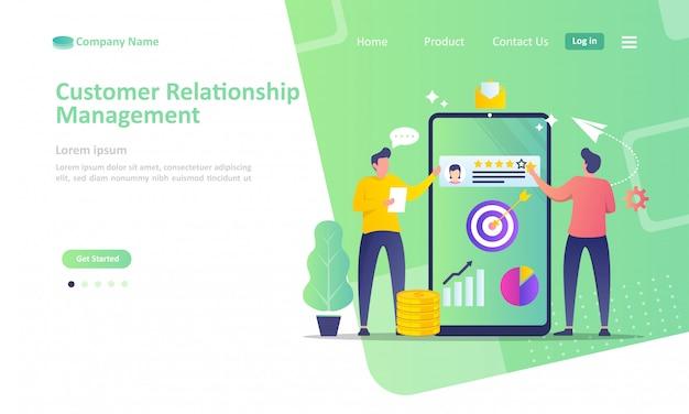 Gestion de la relation client Vecteur Premium