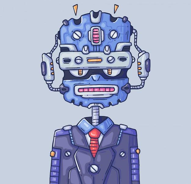 Gestionnaire De Robot. Chatbot Ou Robot-assistant. Illustration De Dessin Animé Caractère Dans ...