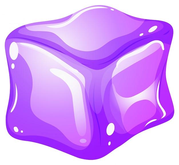 Glaçon violet sur blanc Vecteur gratuit