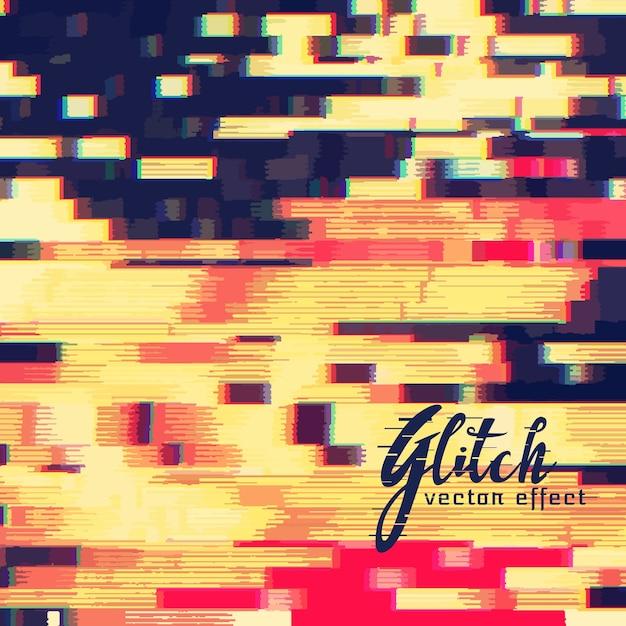 Glitch Effet Vecteur Fond Conception Vecteur gratuit