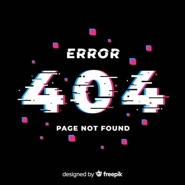 Glitch error 404 page Vecteur gratuit