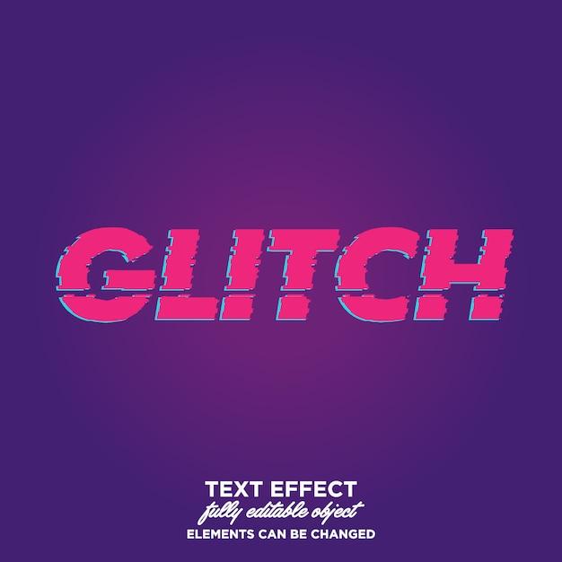 Glitch style de texte Vecteur Premium
