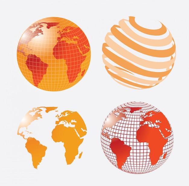 Global Vecteur gratuit