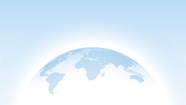Globe Bleu En Pointillé Carte Bleue Vecteur Premium