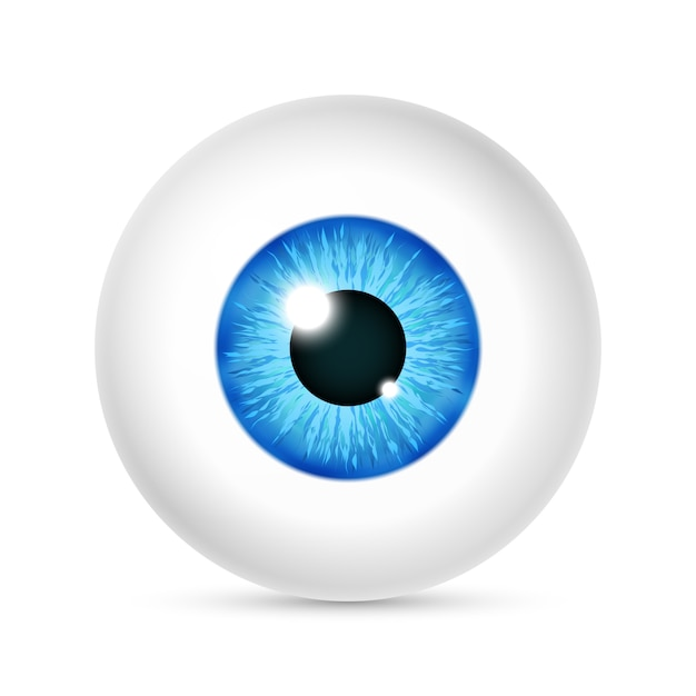Globe oculaire humain réaliste vector Vecteur Premium